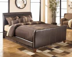Leather Sleigh Bed Queen