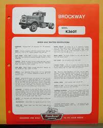 1970 Brockway Trucks Model K360T Single Axle Tractor Specification Sheet Brockway Trucks Dealer Sales Sign Vinyl Banner Shop Art Mural Large Brockway Wrecker Walk Around Page 1 Heavy Duty Trucks Antique For Sale Vintage Very Rare 1960s Trucker Camo Hat Cstktec Blog Cstk Truck Equipment Car Show Classic 1957 260 The Big Noreaster Elegant 20 Photo New Cars And Wallpaper 48 Message Board View Topic Pic Of The This Weekend Offtopic Discussion Forum 1970 Model 360t Single Axle Tractor Folder