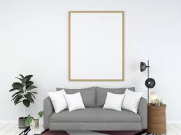 innenraumhintergrund des wohnzimmers 3d stock foto