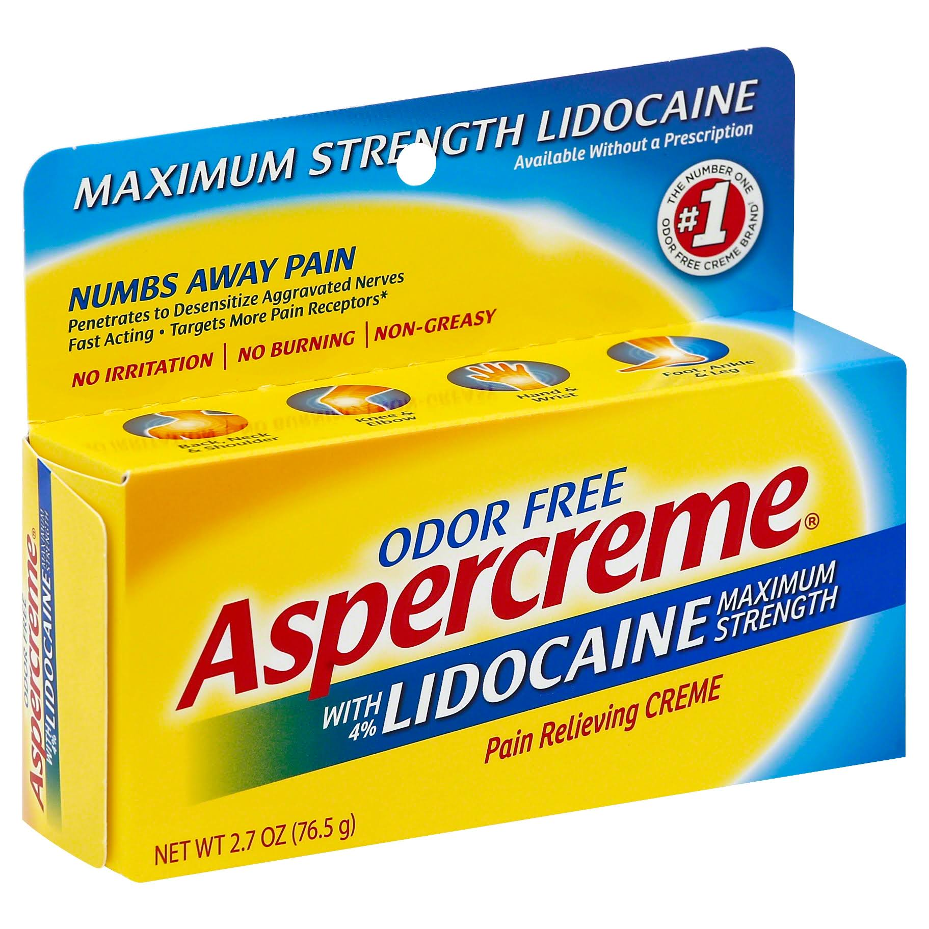 Aspercreme Pain Relieving Creme - Maximum Strength, 2.7oz