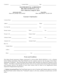 100 Semi Truck Rental Lease Agreement Form Template Lease Agreement