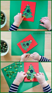 Button Christmas Cards With Toddlers Kids Of Different Ages Can Participate In Making This