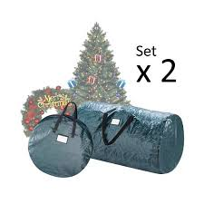 Elf Stor Double Combo Pack 2 Christmas Tree Storage Bag 24 Inch Wreath