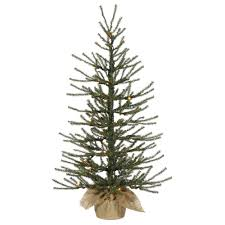 4 Ft Pre Lit Potted Christmas Tree by Artificial Christmas Trees Prelit Table Top Artificial Christmas