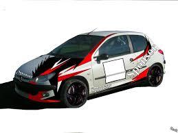 deco voiture de rallye déco 206 xs volant lachez vous rallyes régionaux nationaux