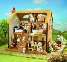 Calico Critters Master Bathroom Set by Sylvanian Families Highfields Farm Rear View Calico Critters