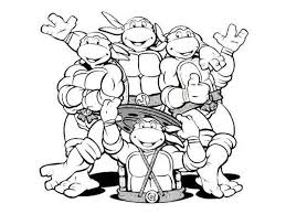 Teenage Mu Cool Mutant Ninja Turtles Coloring Pages Nickelodeon
