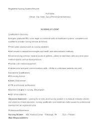 Sample Nursing Resume Entry Level Student Nurse Samples Resumes For
