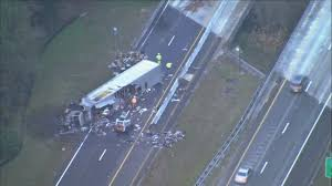FHP: Lanes Of SR-528 Eastbound Reopen 7 Hours After Semi-truck ... Train Crashes Into Fedex Truck Cnn Video Semi Barrier On Hwy 26 Eb In Beaverton No Crash Volving Semis Sparks Fire Southwest Side Fox59 Blown Tire Causes Semi Crash With Lunch I75 Estero Driver In Fatal Was On Cellphone Charges Allege Wcco Update Highway 1 Westbound Langley Open Again After Best Truck Crashes 2015 2016 Trucks Slows Traffic I65 Sthbound Near Morning Semitruck Ties Up Northbound 99 Accidents Youtube Truck Crash Compilation 2 Semi Trucks Driving Fails