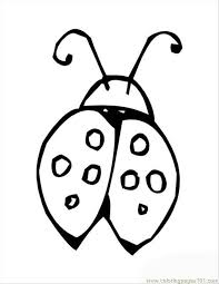 Insects Lady Bug Shell Coloring Page