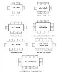 size of rectangular table table designs