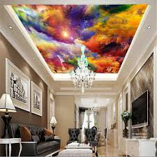 Mural 3d Wallpaper Home Decor Photo Background Hall Ceiling Painting Colorful Living Room Art