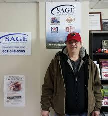 100 Sage Trucking School Endicott Grad James Gleason James Truck Driving