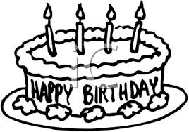 birthday cake line art 8