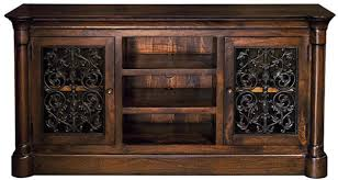 Tuscan Style Media Cabinet With Iron
