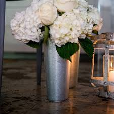 Galvanized French Flower Market Buckets For Wedding Table And Floor Decorations