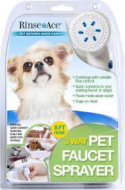 rinse ace 3 way faucet sprayer dog grooming tool 8 ft hose