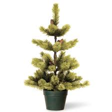 3ft Pre Lit Artificial Christmas Trees by 3ft Woodland Carolina Pine Potted Artificial Christmas Tree