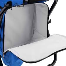 MagiDeal Foldable Backpack Chair Portable Camping Stool With Cooler Bag 4  Colors For Beach Boating Fishing Foldable Chair Wise Blastoff Series Bench Seat 203467 Fold Down Seats At Selecting The Best Deck Chair Boating Magazine Wander Directors With Side Table Folding Alinum Frame Rear Dorel Cosco Commercial Beige Upholstered 4pack Bcf Top 10 Boat Of 2019 Video Review Questions Answers