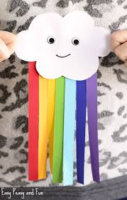 Simple And Cute Paper Rainbow Kid Craft