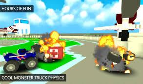 Blocky Monster Truck Demolition Derby APK Download - Free Racing ...