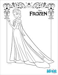 Coloring Page Elsa Frozen Fever Sheets Pages Easy Pdf Medium Size