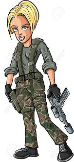 Soldier Clipart Woman 8