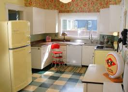 Vintage Kitchen With Big Chill Refrigerator In Buttercup Yellow