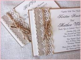 Handmade Rustic Wedding Invitations Buy Lace And Burlap Invitation Sample