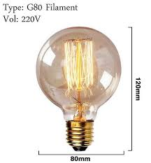 antique vintage retro edison light bulbs 220v e27 40w incandescent
