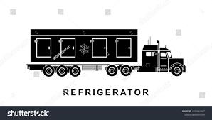 Detailed Refrigerator Truck Illustration Stock Illustration ...