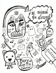 Also I Know This Coloring Page Is A Bit Zany For Book But Doodlers Anonymous Has Lot Of Really Funky Edgy Drawings So Im Not Worried About
