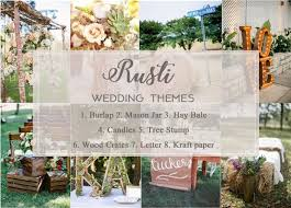 Rustic Wedding Theme Ideas