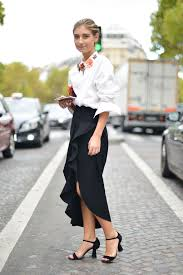 18 chic ways to wear your white button down shirt this fall glamour