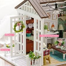 Amazoncom ROBOTIME DIY Dollhouse Kit Miniature Coffee House Kits