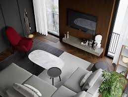 HOME DESIGNING: 3 Red And Grey Modern Home Interiors In The ...
