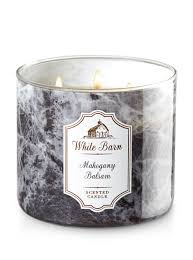 Mahogany Balsam 3-Wick Candle - White Barn | Bath & Body Works Basil Sage Mint The Candle Barn Company Bath Body Works White Co Miami Grand Opening Perth Western Australia Facebook And Old Piece Of Beaten Barn Board Some Rusty Wire And An Primitive Antique Style Handmade Wood Lantern W Amazoncom Milkhouse Creamery Butter Jar Candice Holder Vase Phantastic Phinds Coconut Snowflake 3wick Pottery Homescent Redesign Packaging