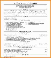 5 Good Pharmacy Technician Resume