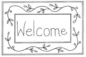 Welcome Coloring Page Great Pages Gallery