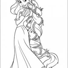 Disney Tangled Princess Rapunzel Coloring Pages