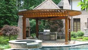 Patio & Pergola : Wonderful Patio With Pergola 22 Outdoor Kitchen ... Backyards Backyard Arbors Designs Arbor Design Ideas Pictures On Pergola Amazing Garden Stately Kitsch 1 Pergola With Diy Design Fabulous Build Your Own Pagoda Interior Ideas Faedaworkscom Backyard Workhappyus Best 25 Patio Roof Pinterest Simple Quality Wooden Swing Seat And Yard Wooden Marvelous Outdoor 41 Incredibly Beautiful Pergolas