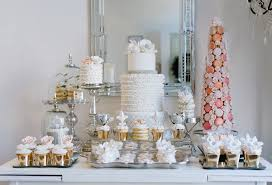 Glamorous Elegant Wedding Dessert Table 21 With Additional Ideas