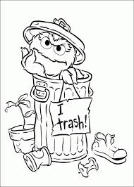 Oscar The Grouch Coloring Pages Online