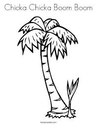 Sabal Palm Tree Coloring Page Boom Twisty Noodle