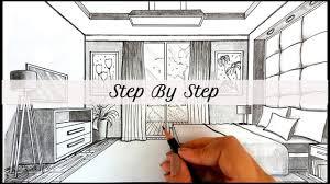 wie zeichnet ein schlafzimmer in einer perspektive wie