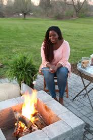 Rubber Paver Tiles Home Depot by How To Build A Paver Patio With A Built In Fire Pit