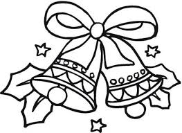 Christmas Bow Bells Coloring Page