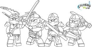 Fighting Lego Ninjago Free Coloring Pages Printable Pictures