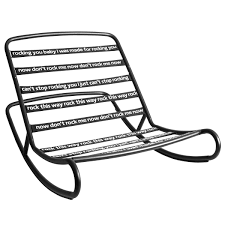 Rock 'n Roll Rocking Chair, Black Isla Wingback Rocking Chair Taupe Black Legs Safavieh Outdoor Living Vernon White Rar Eames Colby Avalanche Patio Faux Wood Rapson Amazoncom Adults For Heavy People Clips Monet Rattan Rocking Chair Base Pp Ginger