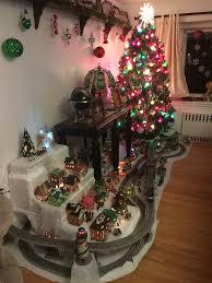 Thomas Kinkade Christmas Tree Train by My Christmas Lionel Train Layout Model Railways Pinterest